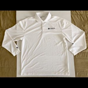 Nike Golf Dri-Fit TASER Classic L/S Polo Sz Large